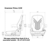Grammer Primo XXM Mechanical Diagram